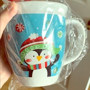 Coffee mug with a cute penguin for Christmas gift